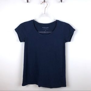 Everlane Navy Blue Basic Tee Shirt Supima Cotton